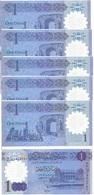Libya - 5 Pcs X 1 Dinar 2019 UNC Pick New Polymer Lemberg-Zp - Libye