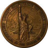 United States Of America, Médaille, Centenaire De La Statue De La Liberté - Etats-Unis