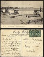 CPA TUNISIA - LA GOULETTE.--LE MOLE , BATTERIE DE CANONS - Tunisie