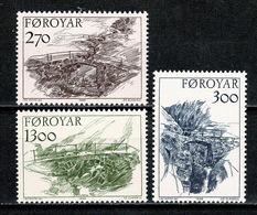 Féroé 1986 Yv 136/138**   Mi 142/144** MNH - Islas Faeroes