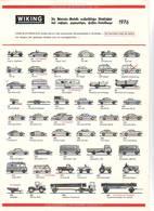 KAT242 Modellbauprospekt WIKING 1976, Neuwertig - Littérature & DVD