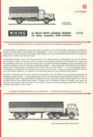 KAT243 Modellbauprospekt WIKING, 1975, Deutsch, Neuwertig - Littérature & DVD