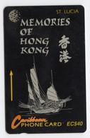 SAINTE LUCIE REF MV CARDS STL-14F Année 1994 40$ 14CSLF Memories Of Hong Kong - Saint Lucia