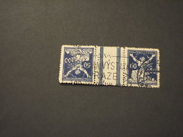 POLONIA - 1920/5 DONNA 60+60 H. - TIMBRATI/USED - 1919-1939 Republic