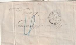 ///   FRANCE   Facture à Entête Illustrée  Commerce De Houille Et Coke - 1847 Paris Orléans - Marcophilie (Lettres)