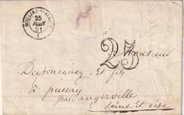///   FRANCE  Facture LEFORT ET FILS  Chaussures 1851 Mouli Sur Allier 1851 Facture De Chaussons - Postmark Collection (Covers)