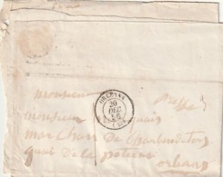 ///  FRANCE  -- Enveloppe  Courrier ORLEANS  1856 - 1849-1876: Classic Period
