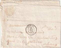 ///  FRANCE  -- Enveloppe  Courrier ORLEANS  1856 - Marcophilie (Lettres)
