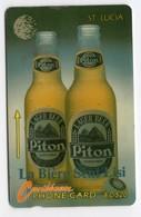 SAINTE LUCIE REF MV CARDS STL-14C Année 1994 20$ 10CSLD PITON BEER - Sainte Lucie