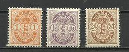 Denmark 1901 /02 - Mi. 37/39 MH - Nuovi