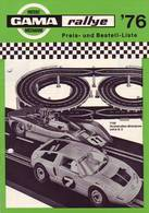 KAT247 Modellbauprospekt GAMA Rallye 1976, Neuwertig - Literature & DVD