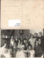 589336,Foto-AK Hochzeit Paar Bräutigam Braut Kuchen Pendeluhr Uhr - Noces