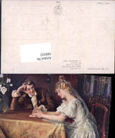 589333,Künstler AK Skramliku Hochzeit Paar Bräutigam Braut Brautkleid - Noces