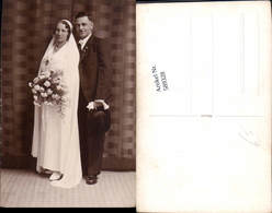 589328,Foto-AK Hochzeit Paar Bräutigam Braut Brautkleid - Noces