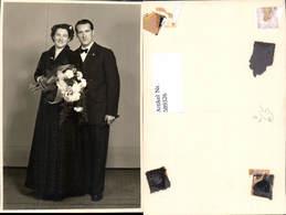 589326,Foto-AK Hochzeit Paar Bräutigam Braut Pub Trefzger Lörrach - Hochzeiten