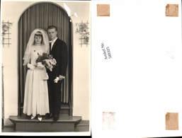 589325,Foto-AK Hochzeit Paar Bräutigam Braut Brautkleid - Noces