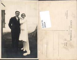 589324,Foto-AK Hochzeit Paar Bräutigam Braut Brautkleid - Hochzeiten