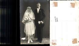 589322,Foto-AK Hochzeit Paar Bräutigam Braut Brautkleid - Noces