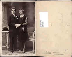 589321,Foto-AK Hochzeit Paar Bräutigam Braut Pub Cayez Dunkerque - Noces