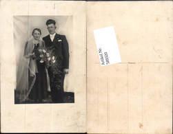 589320,Foto-AK Hochzeit Paar Bräutigam Braut Brautkleid - Hochzeiten