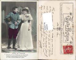 589318,Foto-AK Hochzeit Paar Bräutigam Braut Brautkleid Dame De France Soldat Stiefel - Hochzeiten