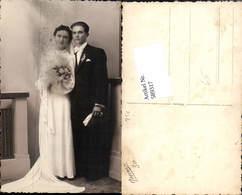 589317,Foto-AK Hochzeit Paar Bräutigam Braut Brautkleid - Noces