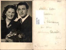 589316,Foto-AK Hochzeit Paar Bräutigam Braut Brautkleid - Hochzeiten