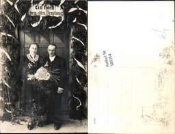 589314,Foto-AK Hochzeit Paar Bräutigam Braut Brautkleid - Hochzeiten