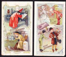 2 CHROMOS Chocolat SUCHARD Jadis Aujourd'hui   Serie 193 - Suchard