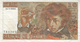 Billet 10 F Berlioz Du 4-3-1976 FAY 63.18 Alph. J.287 - 1962-1997 ''Francs''