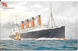 CPA- Vers 1906-PAQUEBOT-S.S.LUSITANIA-Cie CUNARD LINE-Ligne Amerique:GB-1915-Coulé Par Sousmarin UBoat-TBE - Paquebots