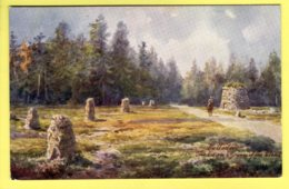 Inverness-shire - Culloden, Cairn & Graves Of The Clans By H. B. Wimbush  - Tuck 7677, Bonnie Scotland – Inverness PC - Inverness-shire