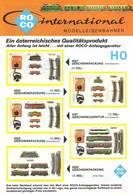 KAT258 Modellbahnfolder ROCO International H0, Neuwertig, A5-Format, 4-seitig, Deutsch - Literature & DVD
