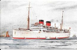 CPA- Vers 1928-PAQUEBOT-M.V DUNBAR CASTLE-Cie CANADIAN PACIFIC RY-Coulé En 1940-par Sousmarin Uboat-TBE-RARE - Paquebots