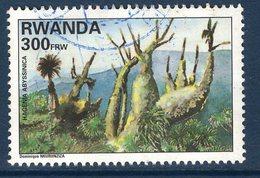 Rwanda, Timbre Oblitéré, Arbre, Hagenia Abyssinica - Rwanda