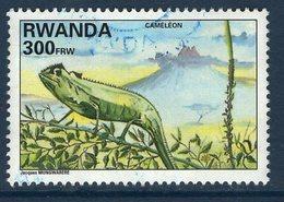Rwanda, Timbre Oblitéré, Animaux, Caméléon - Rwanda