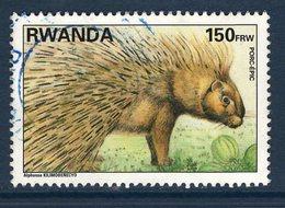 Rwanda, Timbre Oblitéré, Animaux, Porc-élic - Rwanda