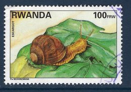 Rwanda, Timbre Oblitéré, Animaux, Escargot - Rwanda