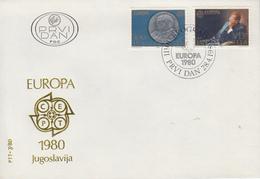 Enveloppe   FDC   1er  Jour   YOUGOSLAVIE    EUROPA    1980 - FDC
