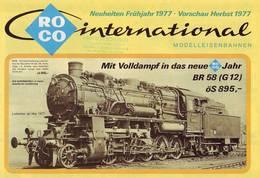 KAT260 Modellbahnkatalog ROCO International, Neuheiten Frühjahr 1977 - Littérature & DVD