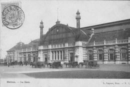 Malines.  La Gare . Attelages .  (scan) - Machelen