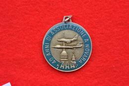 MEDAGLIA  40 ANNI ASSOCIAZIONE ARMA AERONAUTICA NOVARA 1996 - Aviation