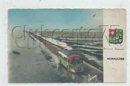 Beauvoir-sur-Mer (85) : GP D'un Bus Car De Liaison Intercommunale Au Passage De Gois En 1953 (animée) PF. - Beauvoir Sur Mer