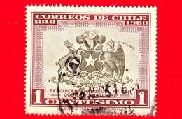 CILE  - Usato - 1960 - 150 Anni Del Primo Governo Nazionale Del 1810 - Stemma - Arms Of Chile - 1 - Cile