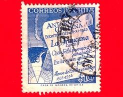 CILE  - Usato - 1958 - Antartico Cileno - Mappa - 10 - Cile