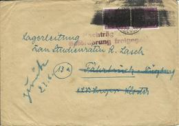 1945 Brief Mit Hitler Schwärzung Von Hessisch-Oldendorf Nach Würzburg  Nachträglich F. Beförderung Freigegeben - Zone Anglo-Américaine