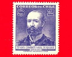 Nuovo - CILE - 1954 - 75 ° Anniversario Della Battaglia Nabale Di Iquique (Amm. Chacón) - 2 - Cile