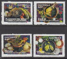 2014 Guatemala Native Cuisine Food Cooking Bon Apetit! Complete Set Of 4  MNH - Guatemala