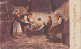 BO259   --  SRETAN BOZIC  ~  WEIHNACHTEN, PERE NOEL, CHRISTMAS  ~   FROM CROATIA, KONAVLI ~  1939 - Santa Claus