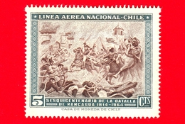 Nuovo - CILE - 1965 - 150 Anni Della Battaglia Di Rancagua - 5 P. Aerea - Cile